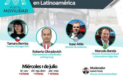 Agendate el Webinar sobre perspectivas de los buses eléctricos en Latinoamérica con las principales compañías del rubro