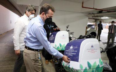 Otro gesto del nuevo Gobierno en República Dominicana: incorpora motos eléctricas para mensajería