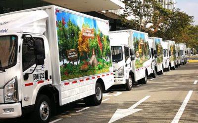 Grupo Bancolombia afianza inversiones para en 2021 arrendar 400 camiones eléctricos