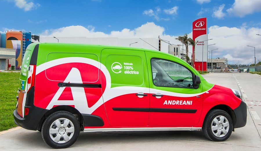 Andreani avanza con su estrategia de sustentabilidad y sigue sumando vehículos eléctricos a su flota de reparto