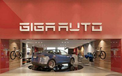 Dos anuncios de Gigaauto: Plataforma de e-commerce y app de recarga para vehículos eléctricos