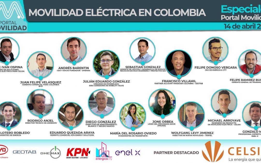 Comienza el Especial «Movilidad Eléctrica en Colombia»: Link para ingresar a la reunión con los líderes del sector
