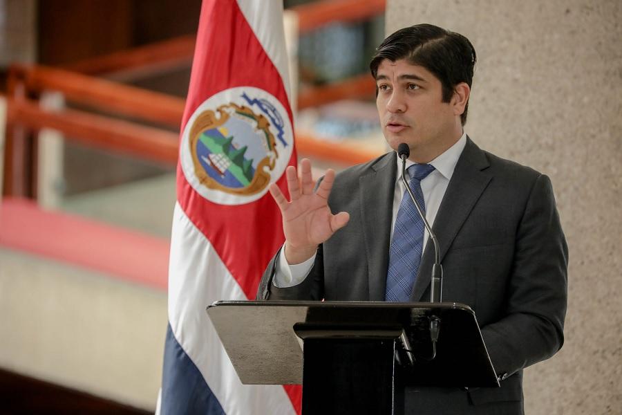 Alvarado: «Necesitaremos apoyo del Congreso para modernizar el transporte público de buses en Costa Rica»