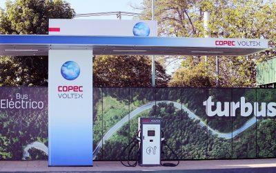 La estación Turbus es la primera con un cargador Copec Voltex de 150 kw para buses eléctricos