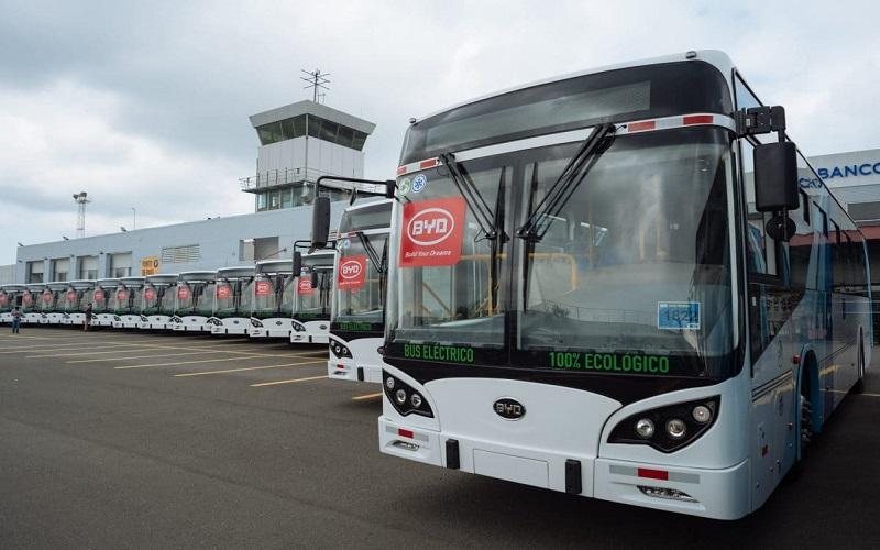 Puerto de Andalucía prueba autobuses eléctricos de BYD en vistas a renovar flota