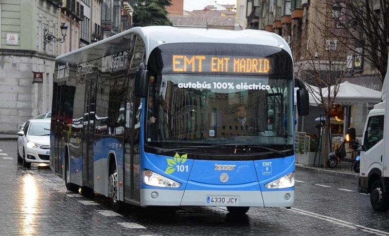 Madrid, Santander y Zaragoza cerraron contratos para incorporar buses eléctricos